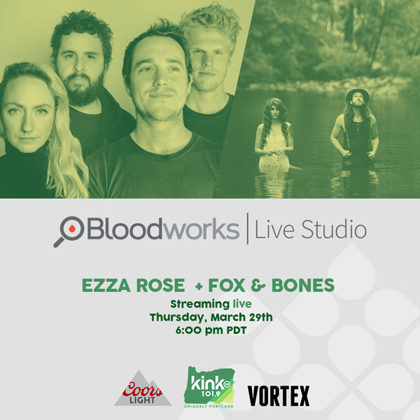 CLICK HERE to RSVP via Bloodworks Live Studio