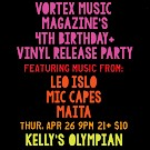 Vortex Music Magazine, Kelly's Olympian