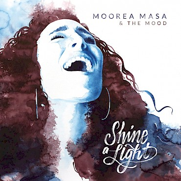 The 'Shine A Light' artwork is a watercolor by Alexandra Becker-Black—celebrate Moorea Masa's debut record release at the Doug Fir on May 20