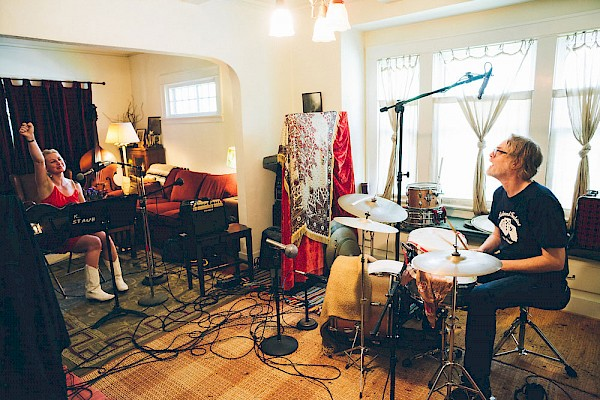 Annalisa Tornfelt and Mike Coykendall at his homestead, aka Blue Rooms Studios, recording her 2015 record 'Search Zero': Photo by Jason Quigley