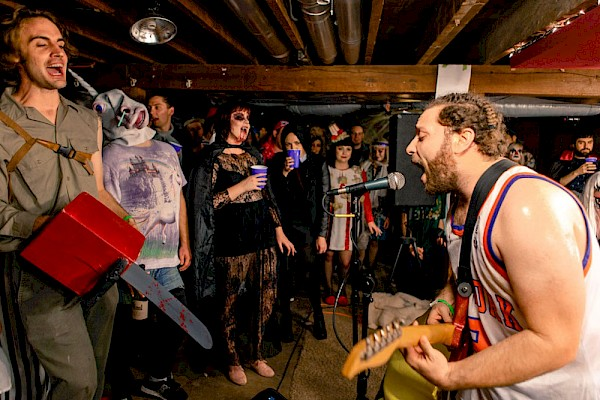 Pyschomagic rocking a Halloween show at The Banana Stand in 2015: Photo by Michael Reiersgaard