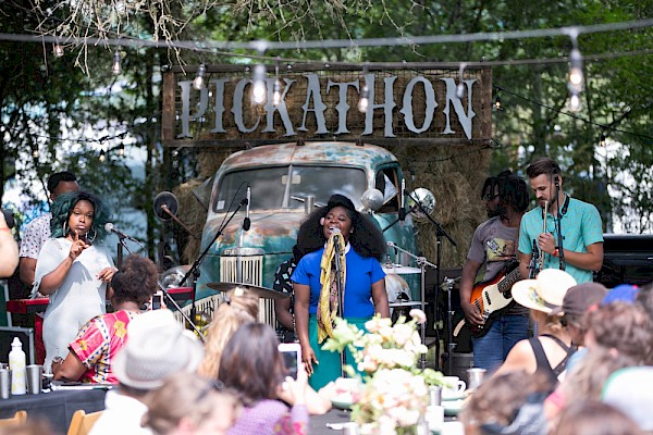 Chef Karl Holl of Spatzle and Speck teamed up with Tank and The Bangas for a Curation Series Sunday brunch at Pickathon in 2017: Photo by Bruce Ely