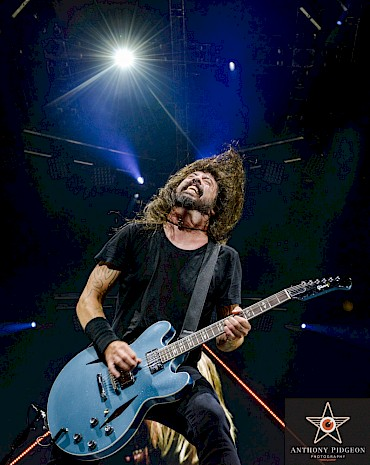 Dave Grohl of Foo Fighters at the Moda Center on September 10, 2018—click to see more photos by Anthony Pidgeon