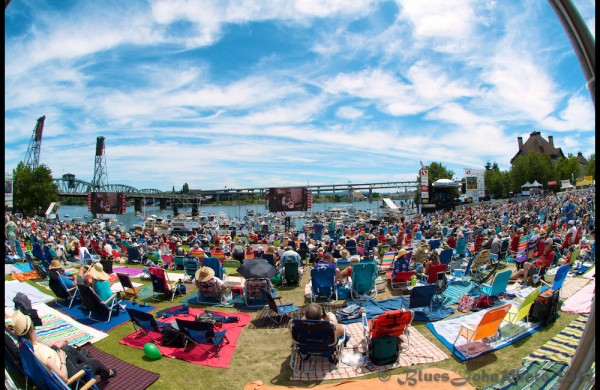 A scene from the 2014 Waterfront Blues Festival at Tom McCall Waterfront Park—click to see a whole gallery by John Alcala