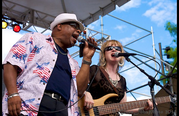 Andy Stokes and Lisa Mann together at the 2014 Watefront Blues Festival—click to see a whole gallery of photos by John Alcala