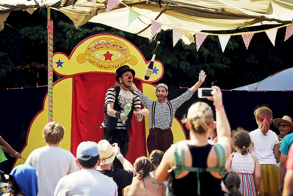Circus Cascadia keeping the little ones entertained at Pickathon in 2014: Photo by Autumn Andel