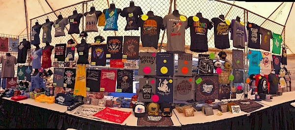 Take a cue from J-Fell Presents' Cheryl Bland and her merch spread at the Wild Hare Country Fest