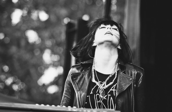 Sarah Barthel of Phantogram at MFNW 2014—click to see a whole gallery of MFNW photos by Autumn Andel