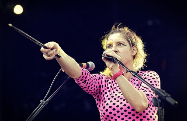 Merrill Garbus of Tune-Yards on day two of MFNW at Tom McCall Waterfront Park. Photos by Autumn Andel—click to see more shots from day two.