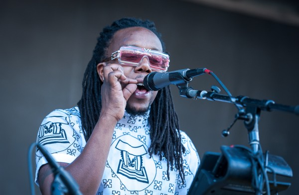 Tendai Maraire of Shabazz Palaces—click to see a whole gallery of day two at Project Pabst by Ronit Fahl