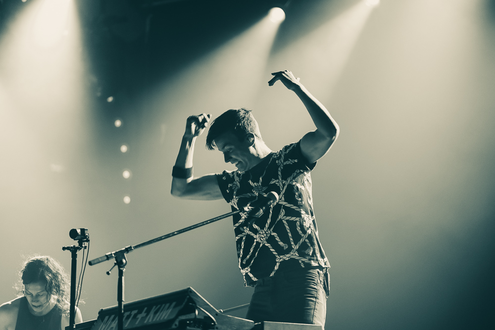 Matt and Kim, Crystal Ballroom, photo by Andrew Wallner