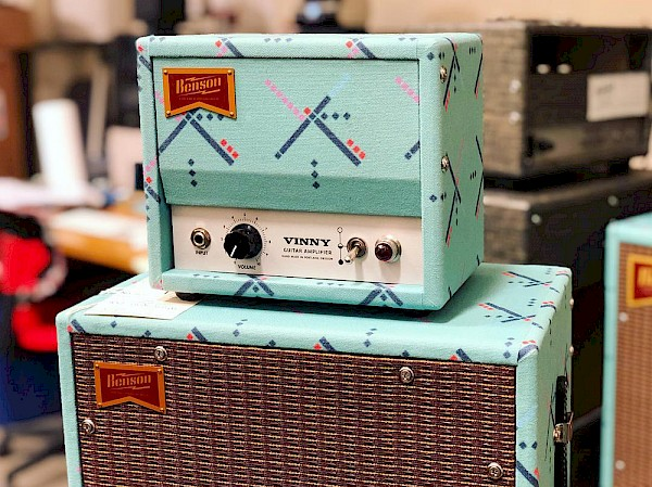 While the Monarch may be the cornerstone piece of Benson Amps, this custom one-watt Vinny for Thunder Road Guitars PDX is outfitted in our city's most famous carpet