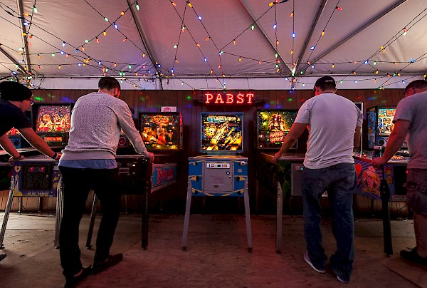 The PBRcade—click to see a whole gallery of photos by Ronit Fahl from the inaugural edition of Project Pabst in 2014